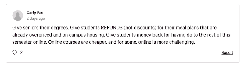 'GIVE STUDENTS REFUNDS': Colleges blasted for remote learning, refund policies